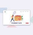 domestic culinary bakery landing page template vector image vector image