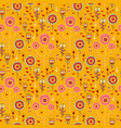 doodle wild flowers seamless pattern vector image