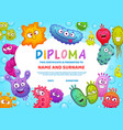 education school or kindergarten diploma viruses vector image vector image