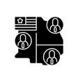 electoral college black glyph icon vector image