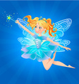 fairy magic wand lue background vector image vector image