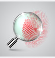 fingerprint and a magnifier vector image vector image