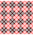 floral checked pattern vector image vector image