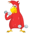 Funny Parrot Gym vector image vector image