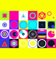 geometric figures collection universal vector image vector image