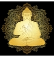 Gold Bubbha Sitting in Lotus position vector image vector image