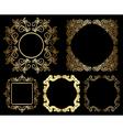 gold floral vintage frames - set vector image vector image