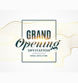 grand opening invitation flyer design vector image vector image