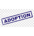 grunge adoption rectangle stamp vector image vector image