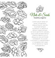 hand drawn sketch nuts and seeds vector image vector image