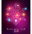 Happy new year 2015 elegant card background vector image vector image