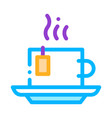 hot tea drink cup icon outline vector image
