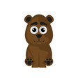 isolated cute bear on a white background vector image vector image