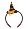 isolated headband icon with a witch hat vector image