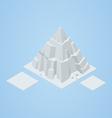 isometric iceberg vector image vector image