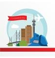 Johannesburg skyline detailed silhouette Trendy vector image vector image