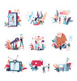 journalism mass media news people icons vector image