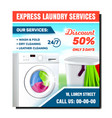 laundry services discount banner vector image vector image
