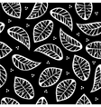 Leaves on black background vector image vector image