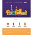 London United Kingdom and France design travel vector image vector image
