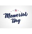 memorial day stars light banner vector image vector image