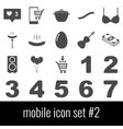 mobile icon set 2 gray icons on white background vector image vector image