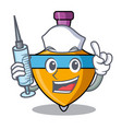 nurse spinning top character cartoon vector image