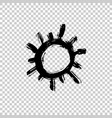 painted sun icon grunge design element vector image vector image