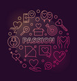 passion round colored on dark vector image vector image