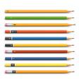 Pencils various design vector image