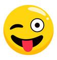 positive emotion emoji symbol accessory vector image vector image