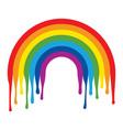rainbow arc vector image vector image