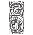 rinceau carved from avallon vintage engraving vector image vector image