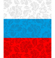 Russian flag painted Khokhloma National State sign vector image