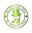 saint patrick day logo vector image vector image