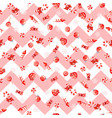 seamless christmas pattern with different elements vector image vector image