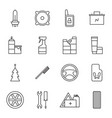 set of car accessories icons vector image vector image