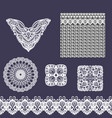 set of decorative lace elements vector image vector image