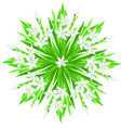 spring flower star vector image vector image