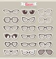 summer sunglasses set vector image vector image