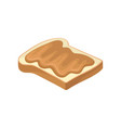 sweet peanut butter on slice of toasted bread vector image