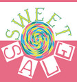 sweet sale5 vector image vector image