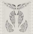 three sketches of wings vector image vector image