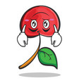 upside down cherry character cartoon style vector image vector image