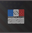 us presidential election logo 2020 template for vector image