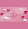 valentines day of craft paper design vector image vector image