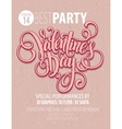 Valentines Day Party Flyer vector image vector image