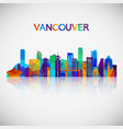 vancouver skyline silhouette vector image vector image