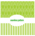 vintage background with green leaves vector image vector image