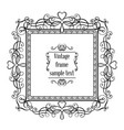 vintage ornamental greeting card template vector image vector image